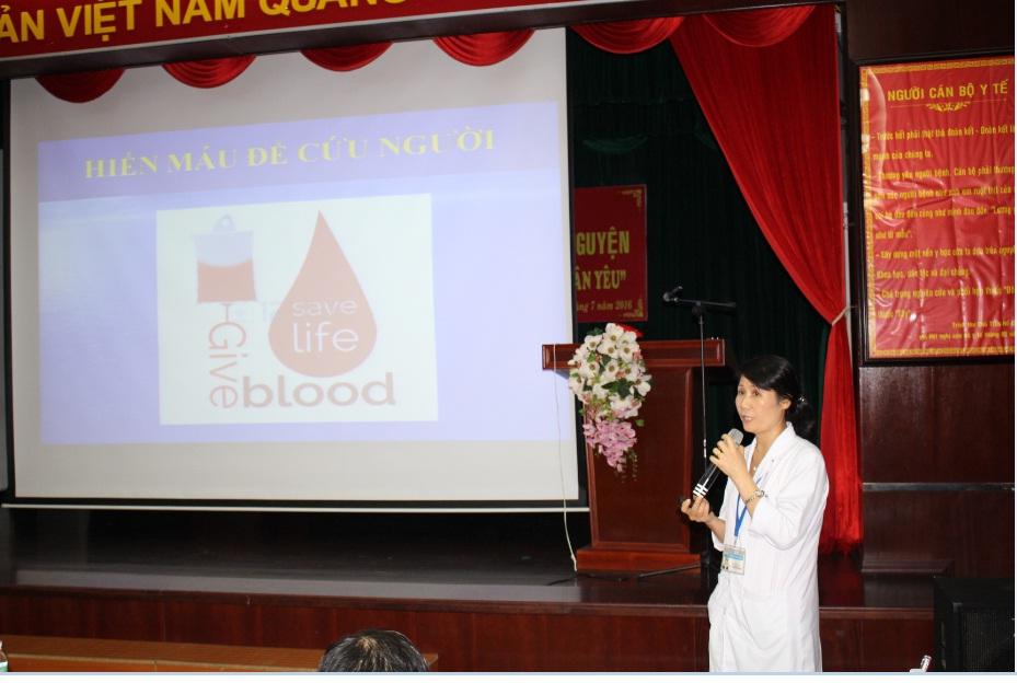 """Bệnh viện 30-4 Tổ chức hiến máu tình nguyện """"Giọt máu nghĩa tình vì đồng đội thân yêu"""" – năm 2018"""